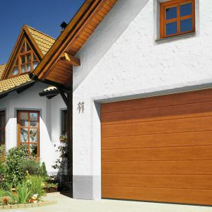 Golden Oak Garage Door
