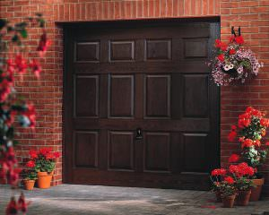 Cristal Dark Oak Garage Door