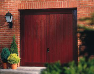 Rosewood external garage door