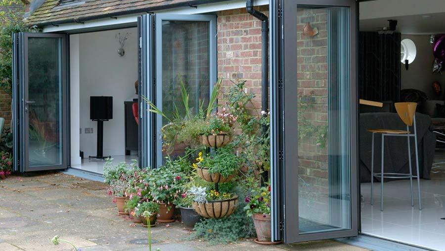 aluminium bifold doors farnham hampshire