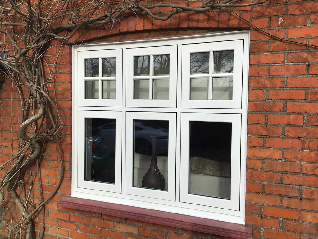 White Flush Sash Casement Windows