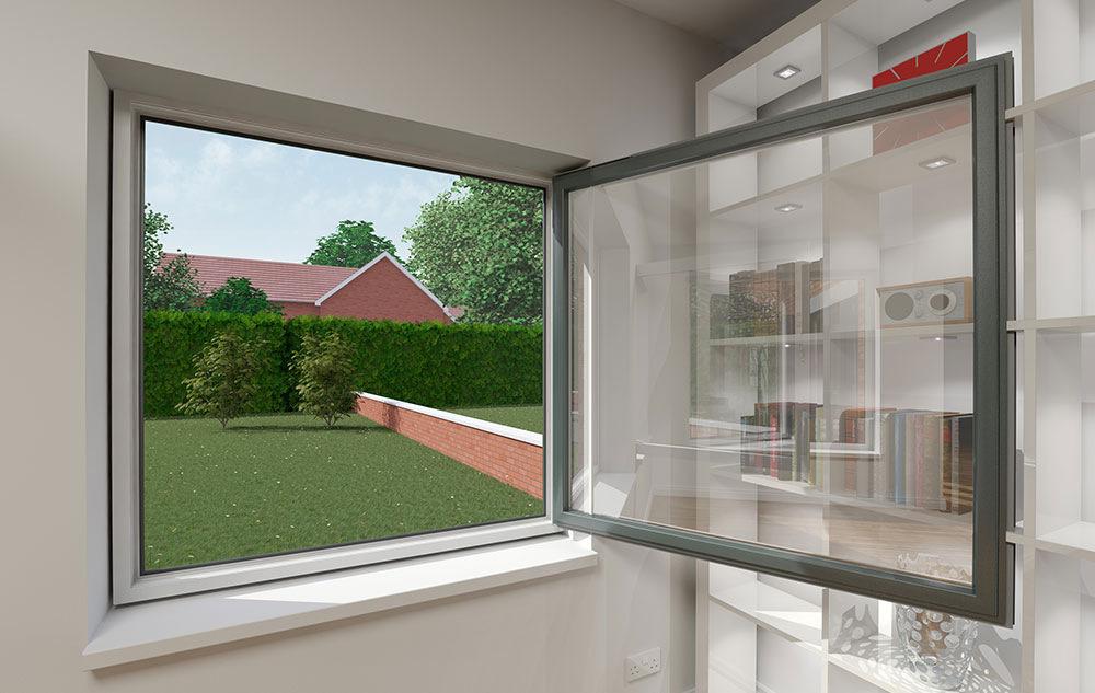 coloured tilt and turn windows hampshire
